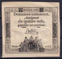 FRANCE - Assignat De 15 Sols De 1792 - Assignats & Mandats Territoriaux