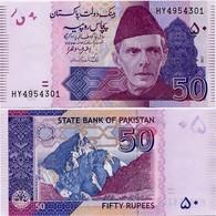 PAKISTAN        50 Rupees        P-47k       2017       UNC  [sign. Ashraf M. Wathra] - Pakistán