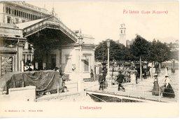 CPA Italia Lago Maggiore Pallanza Imbarcadero Hotel Pension Bellevue 1900 - Italie