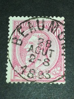 COB N ° 46 Oblitération Beaumont 1893 - 1884-1891 Léopold II