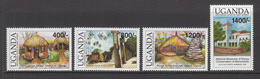 2002 Uganda Historic Sites East Africa  Complete Set Of 4  MNH - Oeganda (1962-...)