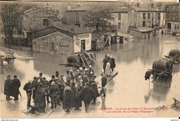 34 - BEZIERS - LA CRUE DE L'ORB (7 NOVEMBRE 1907) - LES ABORDS DE LA PLACE D'ESPAGNE - Beziers