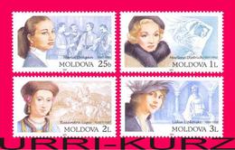 MOLDOVA 2001 Famous People Women Ladies Marlene Dietrich Lipkovski Lupu Dragan 4v Mi384-387 Sc372-375 MNH - Moldova
