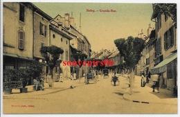 01 - Belley - Grande Rue (cpa Couleur Glacée) Ttb - Belley
