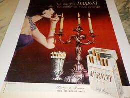 ANCIENNE   PUBLICITE   CIGARETTE MARIGNY PRESTIGE  1960 - Tabac (objets Liés)
