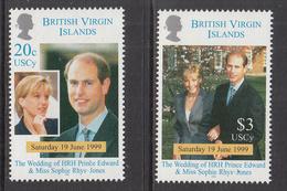 1999 Virgin Islands Wedding Prince Edward Complete Set Of 2  MNH @FACE VALUE - British Virgin Islands