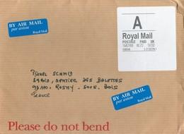 Etiquette De Guichet Horizon Avec Mention A (airmail) - Lettre A épaisse - Sur étiquette Blanche En 2008 - Great Britain