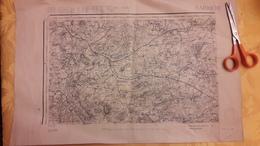 Carte Karte Service Géographique Des Armées Type 1889 Sarrebourg Edition Provisoire 34,5 Cm X 54 Cm - Cartes Topographiques