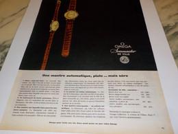 ANCIENNE PUBLICITE MONTRE OMEGA SEAMASTER DE VILLE 1960 - Bijoux & Horlogerie