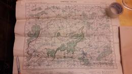 Carte Château Salins Service Géographique De L'Armée 1940 53 Cm X 69 Cm - Cartes Topographiques