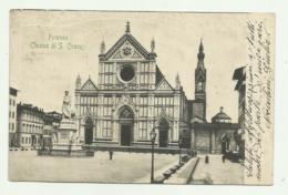 FIRENZE - CHIESA DI S.CROCE  - VIAGGIATA FP - Firenze