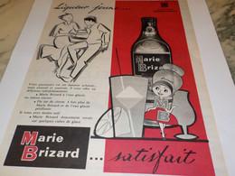ANCIENNE PUBLICITE LIQUEUR JEUNE  MARIE BRIZARD 1960 - Alcools