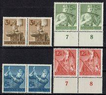 DR 1943 // Mi. 850/853 ** Paare - Deutschland