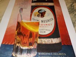 ANCIENNE PUBLICITE FAITES CONFIANCE BOISSON RHUM  NEGRITA 1960 - Alcools