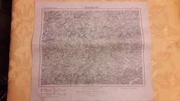Carte Karte Des Deutschen Reiches Umdruckausgabe 555 St Wendel 1921 37,5 Cm X 43 Cm - Cartes Topographiques