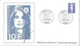Enveloppe 1er Jour France FDC Marianne 1990 - FDC