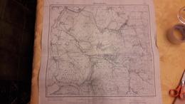 Carte Karte Alberschweiler Abreschviller 3614 De 1908 Eisenschmidt Berlin 60 Cm X 57 Cm - Cartes Topographiques