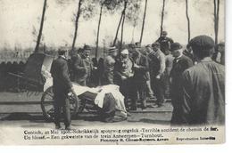 CONTICH - BELGIQUE - Belle Vue Animée Du Terrible Accident De Chemin De Fer En 1908 - Un Blessé - Kontich