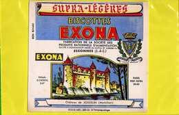 BUVARD : Biscottes EXONA  Chateau De JOSSELIN  Morbihan - Biscottes