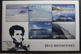 Neuseeland Ross-Gebiet Block 8 ** Postfrisch Landschaften #SK701 - Ross-Nebengebiet (Neuseeland)