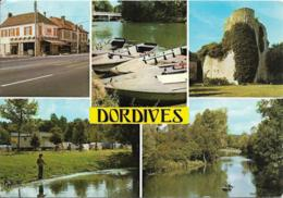 D45 -DORDIVE-RUE DE PARIS/LELOING ET LE PONT/CHÂTEAU DU MEZ LE MARECHAL/LE CAMPING/LE LOING-MULTIVUES-CPSM Grand Format - Dordives