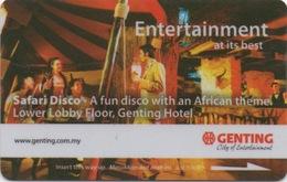 Malaisie : Genting City Of Entertainment : Safari Disco - Cartes D'hotel