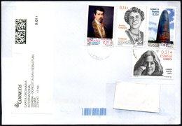 SPAIN SAN SEBASTIAN 2017 - MAILED ENVELOPE - CARMEN MARTIN GAITE / ZENABIA CAMPRUBI / ARCHITECTURE / PAINTING / POETS - 1931-Oggi: 2. Rep. - ... Juan Carlos I