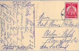 1936 , ESTONIA , TARJETA POSTAL FOTOGRÁFICA CIRCULADA, TALLINN - ALEMANIA , BARCO DE VELA , VELERO - Estland