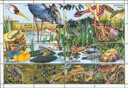 Georgia 1996. Fauna And Flora Of Kolkhida (birds, Butteffly) SS Mnh** - Georgia