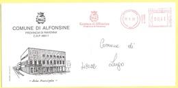 ITALIA - ITALY - ITALIE - 2002 - 00,41€ EMA, Red Cancel - Comune Di Alfonsine - Viaggiata Da Alfonsine Per Lugo - Affrancature Meccaniche Rosse (EMA)