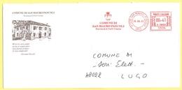 ITALIA - ITALY - ITALIE - 2002 - 00,41€ EMA, Red Cancel - Comune Di San Mauro Pascoli - Viaggiata Da San Mauro Pascoli P - Affrancature Meccaniche Rosse (EMA)