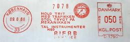 EMA AFS METER STAMP FREISTEMPEL - DANMARK KØPENHAVN 1966 ODOMER MACHINE INSTRUMENT - Automobili