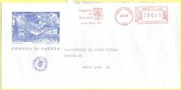 ITALIA - ITALY - ITALIE - 2002 - 00,41€ EMA, Red Cancel - Comune Di Faenza - Viaggiata Da Faenza Per Lugo - Affrancature Meccaniche Rosse (EMA)