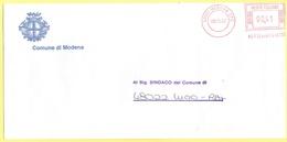 ITALIA - ITALY - ITALIE - 2002 - 00,41€ EMA, Red Cancel - Comune Di Modena - Viaggiata Da Modena Per Lugo - Affrancature Meccaniche Rosse (EMA)