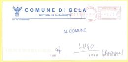 ITALIA - ITALY - ITALIE - 2002 - 00,41€ EMA, Red Cancel - Comune Di Gela - Viaggiata Da Gela Per Lugo - Affrancature Meccaniche Rosse (EMA)