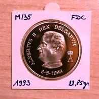 M/35 Médaille Commémorative ARGENT 1993 En L'honneur De S.M. Le ROI ALBERT II  - SILVER - ZILVER - 1993-...: Albert II