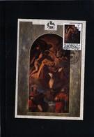 Slovenia 1993 Tintoretto Painting From Novo Mesto Kapitelj Church Maximumcard - Slowenien