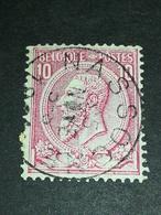 COB N ° 46 Oblitération Nassogne - 1884-1891 Léopold II