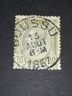 COB N ° 47 Oblitération Boussu 1887 - 1884-1891 Léopold II