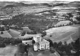 42 - SOLIGNAC Sur LOIRE : Le Chateau De Poinsac - Vue Aérienne - CPSM Dentelée Noir Blanc Grand Format - Haute Loire - Solignac Sur Loire