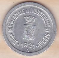 27 . Eure. Union Commerciale Et Industrielle Bernay 10 Centimes 1921 - Monétaires / De Nécessité