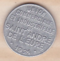 27 . Eure. Union Commerciale Et Industrielle Saint Andre De L Eure 10 Centimes 1921 - Monétaires / De Nécessité