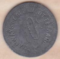 63 . Puy De Dome . Tramways De CLERMONT FERRAND 10 Centimes. Zinc - Monétaires / De Nécessité