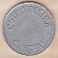 Jeton En Aluminium. Courvoisier Cognac. The Brandy Of Napoleon - Professionnels / De Société