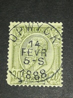 COB N ° 47 Oblitération Opwyck 1888 - 1884-1891 Léopold II