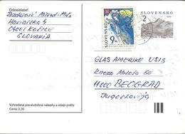 Slovakia Postal Stationery Via Yugoslavia 1998 - Nice Stamp - 1997 World Year Of Slovaks - Postcards