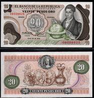 COLOMBIA - 1975 - VEINTE PESOS ORO ( $ 20 ) - UNCIRCULATED. CONDITION 9/10 - Colombie