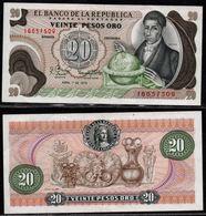 COLOMBIA - 1979 - VEINTE PESOS ORO ( $ 20 ) - UNCIRCULATED. CONDITION 9/10 - Colombie