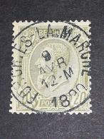 COB N ° 47 Oblitération Forchies-la-Marche 1890 - 1884-1891 Léopold II