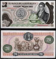 COLOMBIA - 1981 - VEINTE PESOS ORO ( $ 20 ) - UNCIRCULATED. CONDITION 9/10 - Colombie